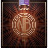 D'Addario NB1152 Nickel Bronze Acoustic Guitar Custom Light 11-52