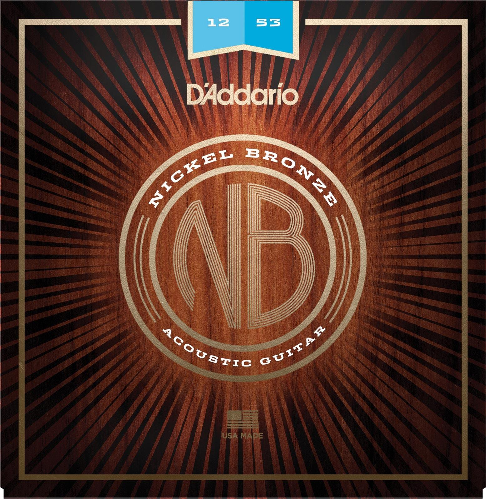 d 39 addario nb1253 nickel bronze acoustic guitar strings light 12 53 keymusic. Black Bedroom Furniture Sets. Home Design Ideas