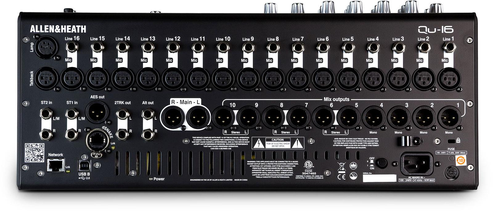 allen heath qu 16 digital mixer keymusic. Black Bedroom Furniture Sets. Home Design Ideas