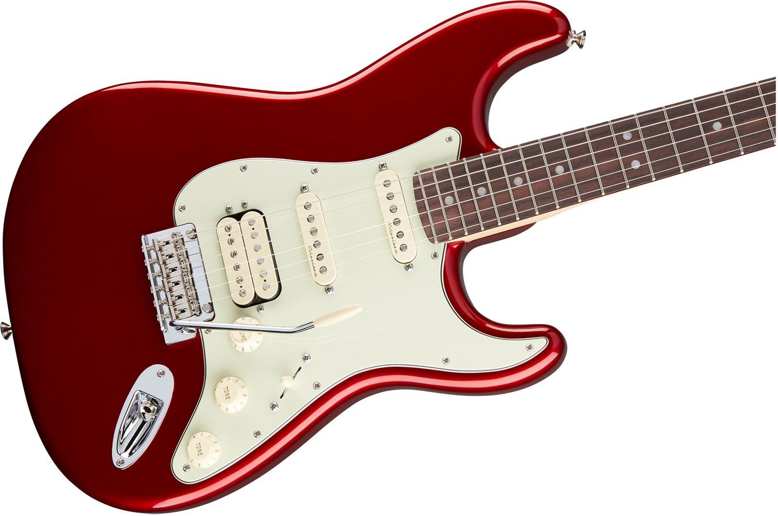 Fender Deluxe Stratocaster Hss Rw Candy Apple Red Keymusic