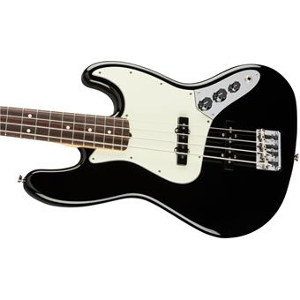 Fender American Professional Jazz Bass RW Black 4 string bass guitar