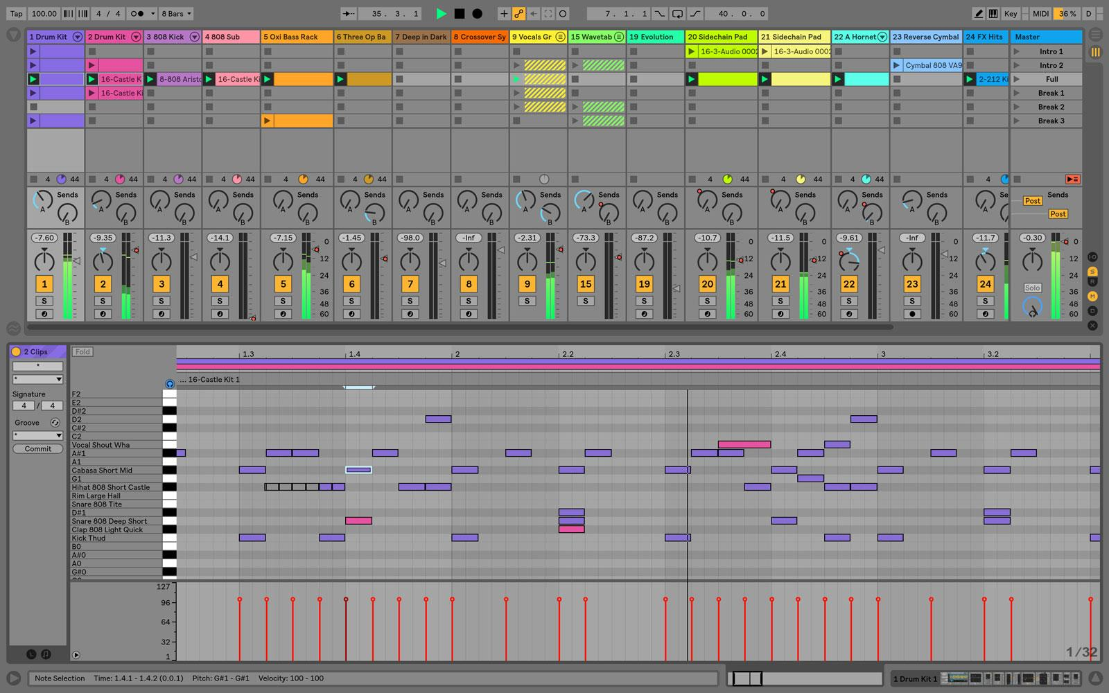 ableton 808 bass pack