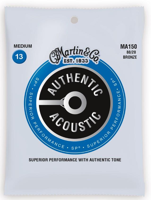 Martin MA550 SP Phosphor Bronze Authentic Acoustic Strings Medium 3-Pack