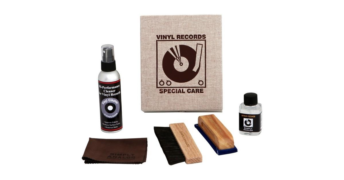 Simply Analog Vinyl Record Cleaning Boxset Delux Edition - Brown Linen