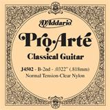 D'Addario J4502 Pro-Arte Single Clear Nylon 0322/J45/J92 2nd Normal Tension