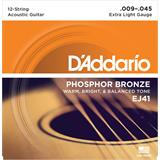 D'Addario EJ41 Phosphor Bronze Extra Light 12-String 9-45