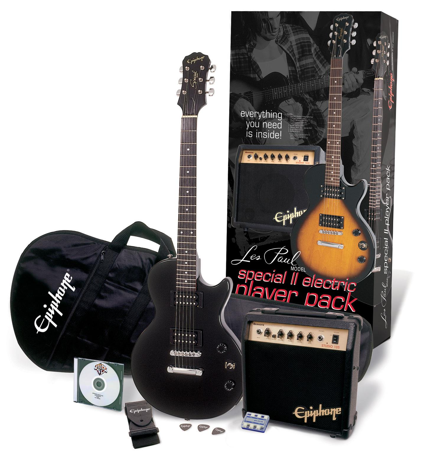 epiphone les paul special ii player pack ebony keymusic. Black Bedroom Furniture Sets. Home Design Ideas