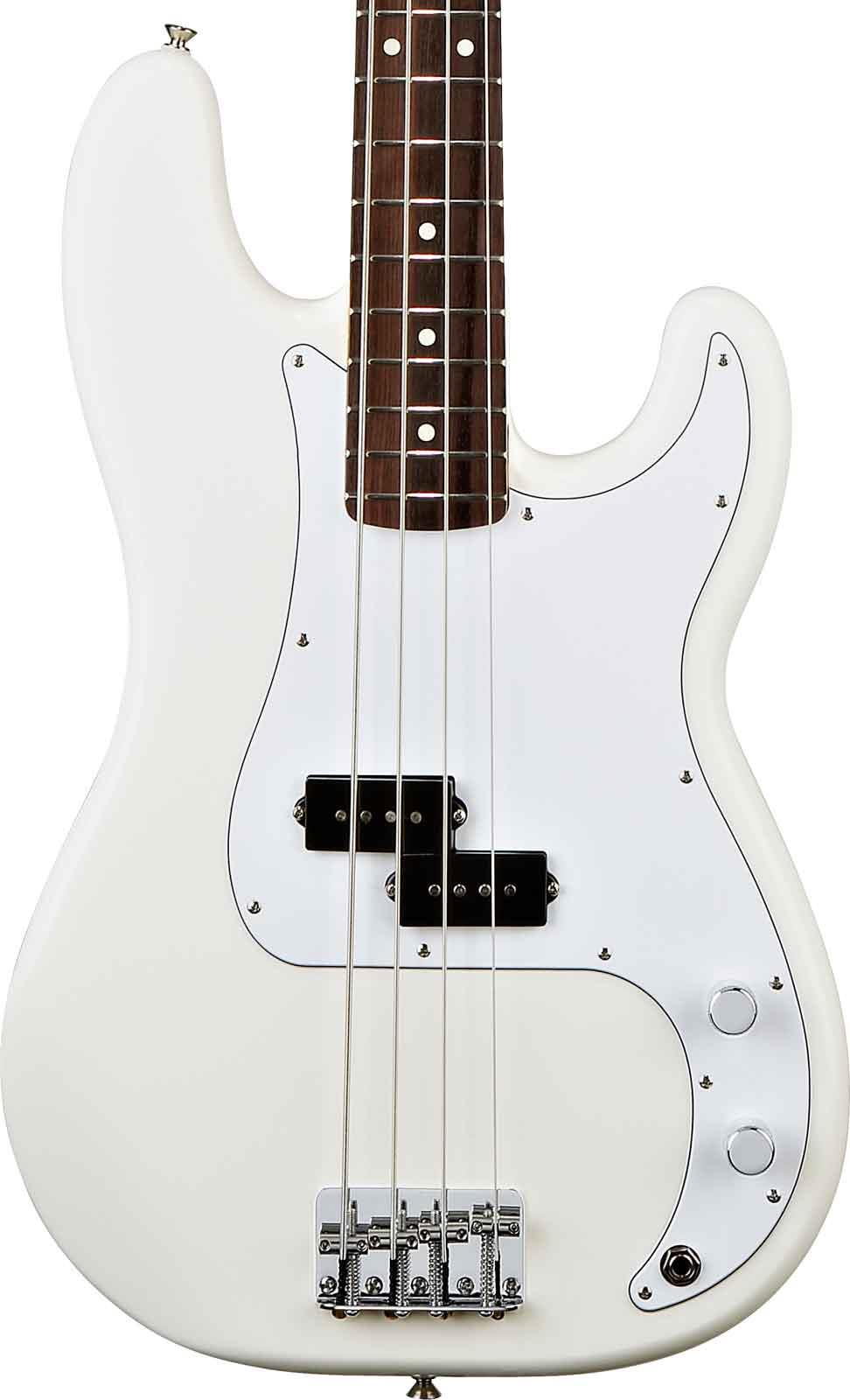 fender standard precision bass artic white rosewood keymusic. Black Bedroom Furniture Sets. Home Design Ideas