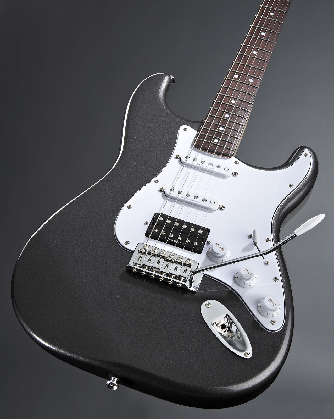 squier vintage modified strat hss gun metal grey keymusic. Black Bedroom Furniture Sets. Home Design Ideas