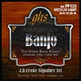 GHS PF135 Medium Light JD Crowe Signature Banjo Strings