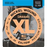 D'Addario EXL115W Blues Jazz Rock Wound 3rd