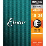 Elixir 11500 Mandolin Strings Nanoweb Light 10-34
