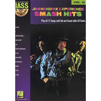 Hal Leonard Bass Play Along Volume 10 Jimi Hendrix Smash Hits songbook voor basgitaar