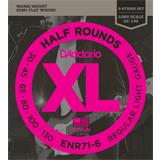 D'Addario ENR71-6 Half Rounds 6-String Bass Regular Light 30-130