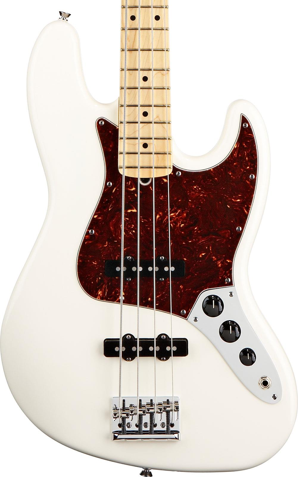 Fender American Standard Jazz Bass Olympic White Maple