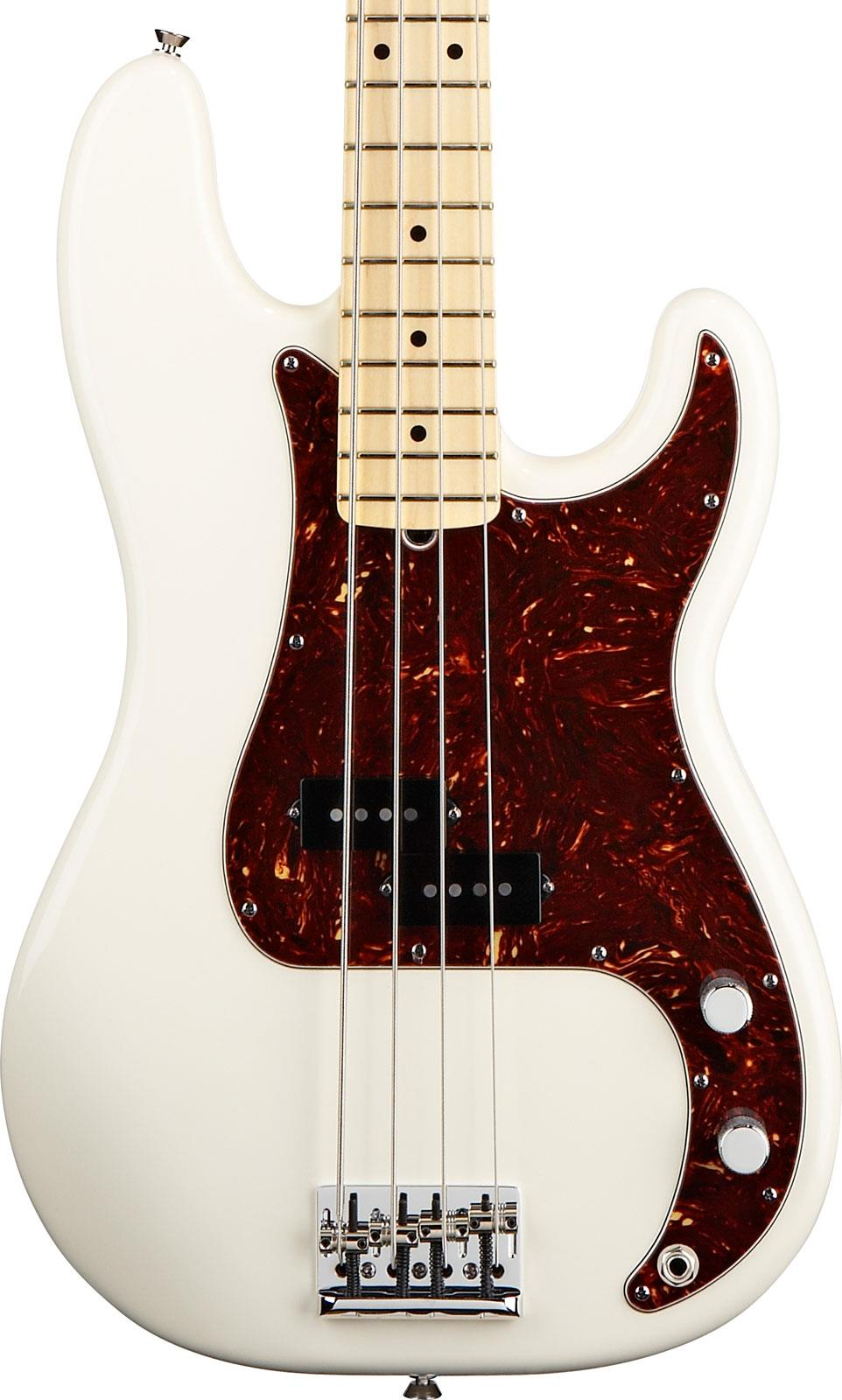 fender american standard precision bass olympic white maple keymusic. Black Bedroom Furniture Sets. Home Design Ideas