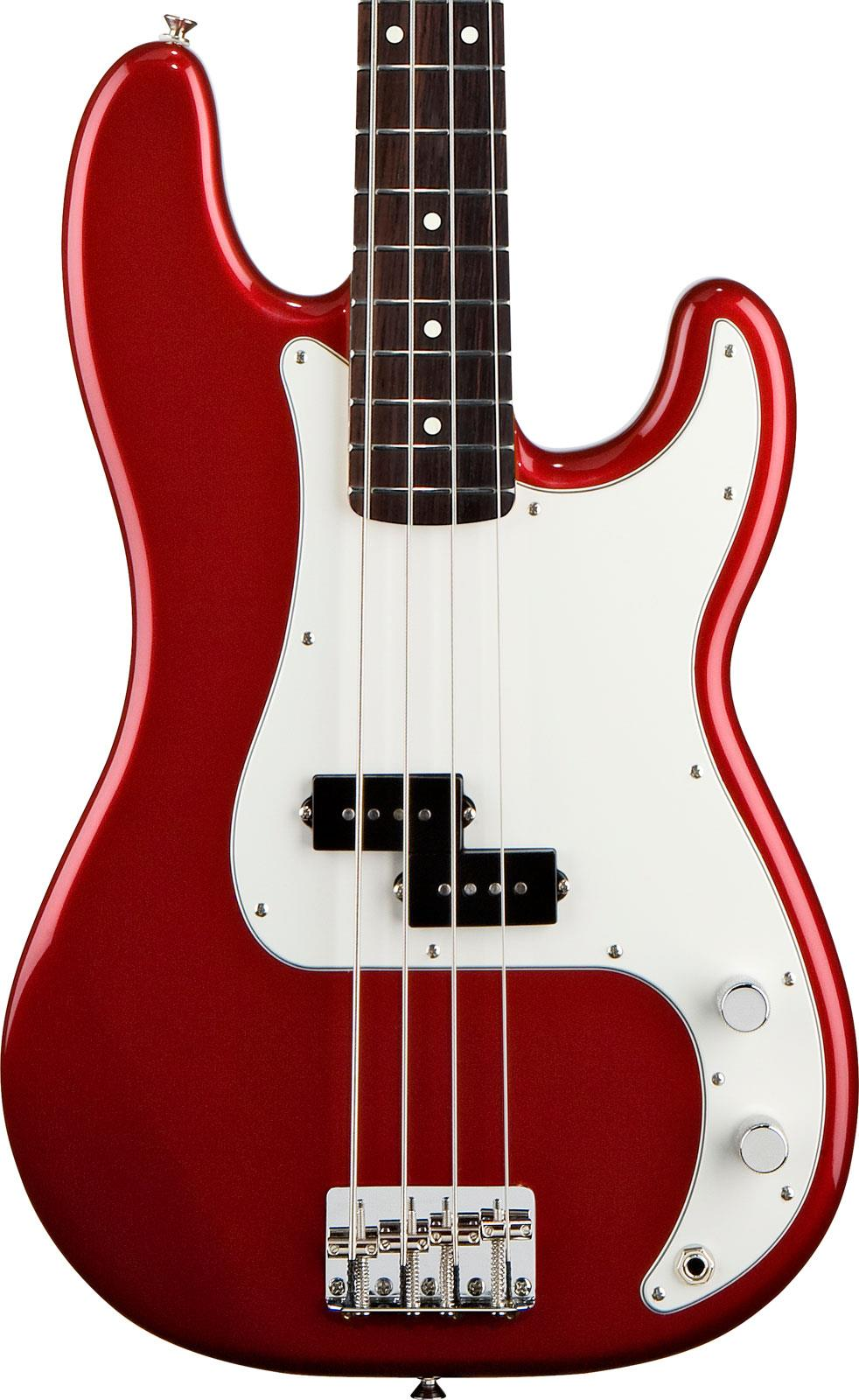 fender standard precision bass candy apple red rosewood keymusic. Black Bedroom Furniture Sets. Home Design Ideas