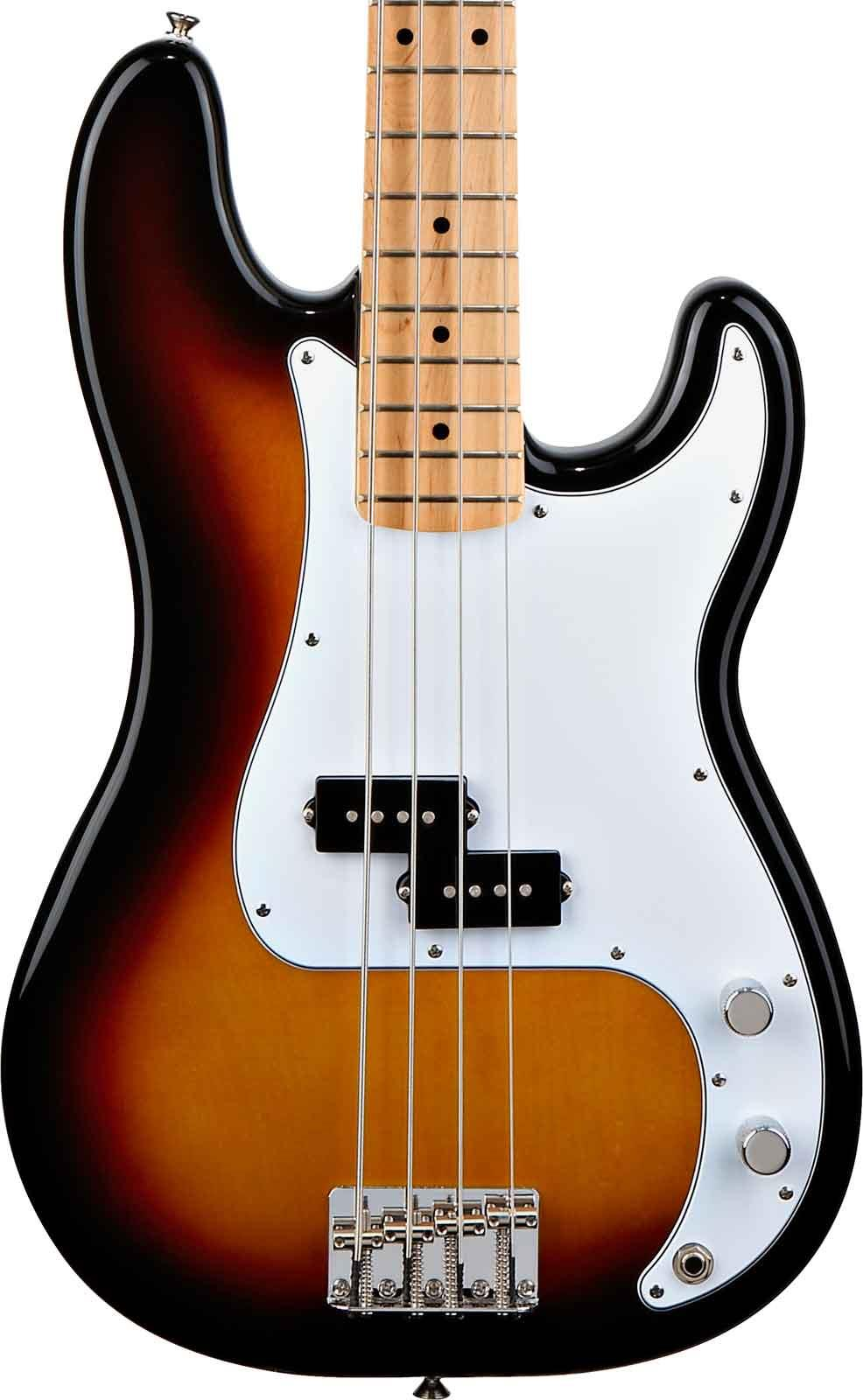 fender standard precision bass brown sunburst maple keymusic. Black Bedroom Furniture Sets. Home Design Ideas