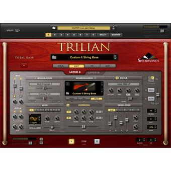 Spectrasonics Trilian Total Bass Module virtual instrument/sampler