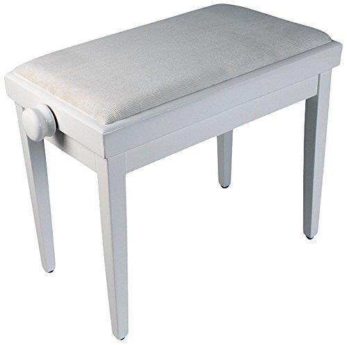 Image of Delson 104-5W Piano Bench Lacquered White 0000000000000