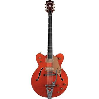 Gretsch G6120DC Chet Atkins Double Cutaway Orange Stain semi-acoustic guitar