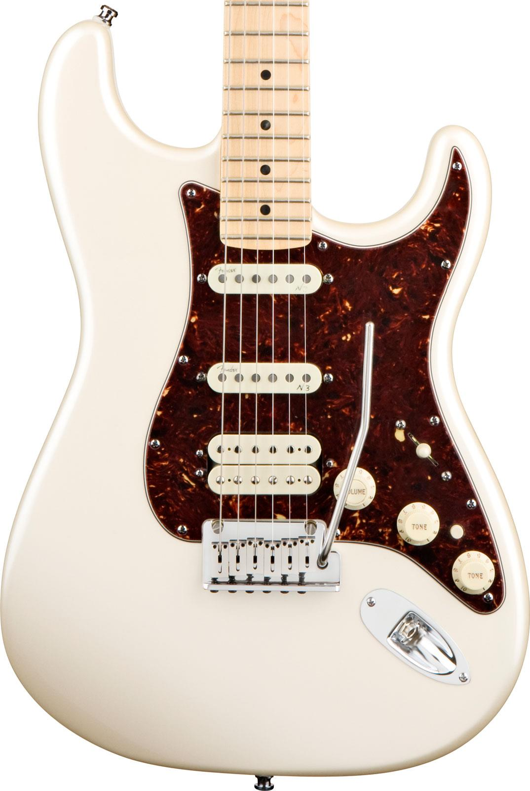 fender american deluxe stratocaster hss olympic pearl maple keymusic. Black Bedroom Furniture Sets. Home Design Ideas