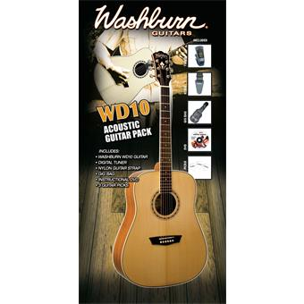 Washburn WD10N Guitar Pack acoustic guitar pack
