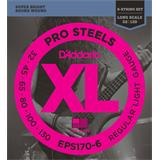 D'Addario EPS170-6 ProSteels Bass 6-String Regular Light 30-130
