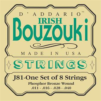 D'Addario J81 Phosphor Bronze Irish Bouzouki Strings snaar voor traditioneel instrument