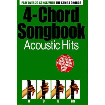 Hal Leonard 4 Chord Songbook Acoustic Hits acoustic guitar song book