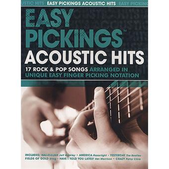 Hal Leonard Easy Pickings Acoustic Hits tablature guitare acoustique