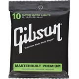 Gibson Masterbuilt Premium Acoustic Strings, Phosphor Bronze (Super Ultra Lights)
