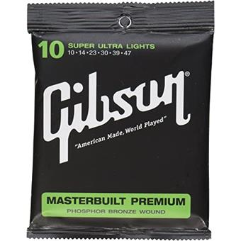 Gibson Masterbuilt Premium Acoustic Strings, Phosphor Bronze (Super Ultra Lights) 012 snarenset voor akoestische gitaar