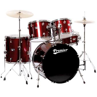 Premier Olympic 6192WR Wine Red Wrap starter drumkit