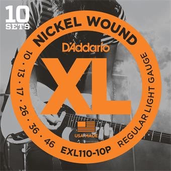 D'Addario EXL110-10P ProPack 10 Sets 010 electric guitar string set