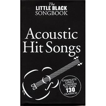 Hal Leonard The Little Black Songbook Acoustic Hit Songs songbook