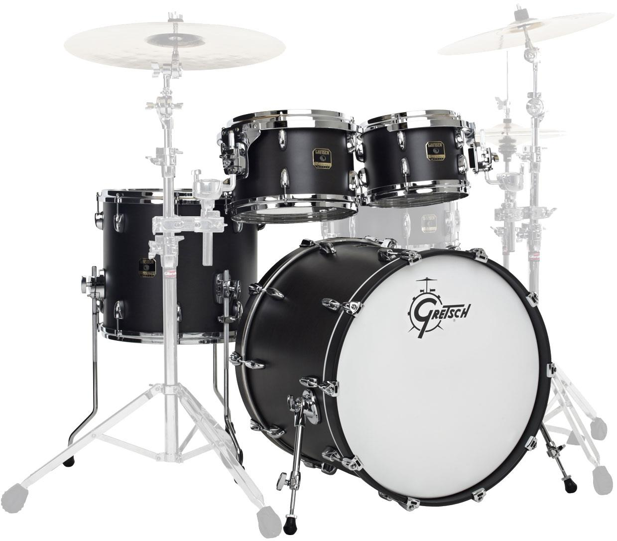 Image of Gretsch Drums E824Q Renown Maple Satin Black 19239253101
