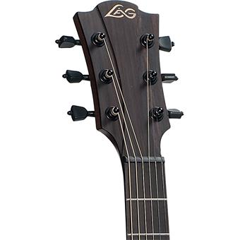 Lâg T100DCE Tramontane Black acoustic-electric cutaway dreadnought guitar