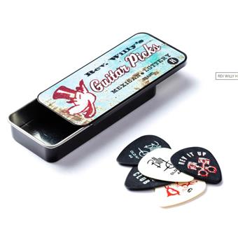 Dunlop Rev Willy Pick Tin 6-Pack Heavy plectre signature