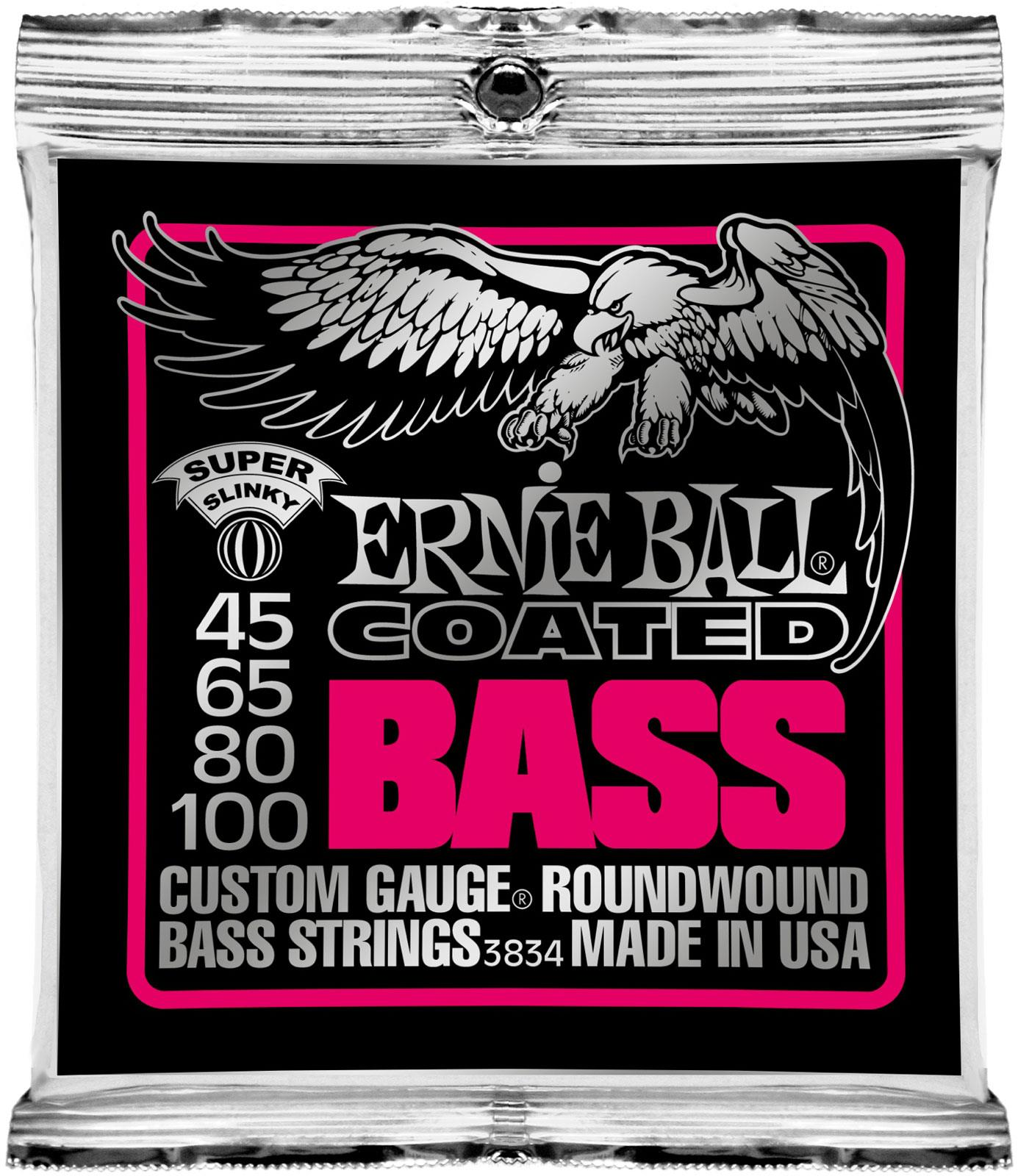 ernie ball 3834 coated bass super slinky keymusic. Black Bedroom Furniture Sets. Home Design Ideas