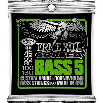 Ernie Ball 3836 Coated Bass 5-String Regular Slinky coated snarenset voor basgitaar