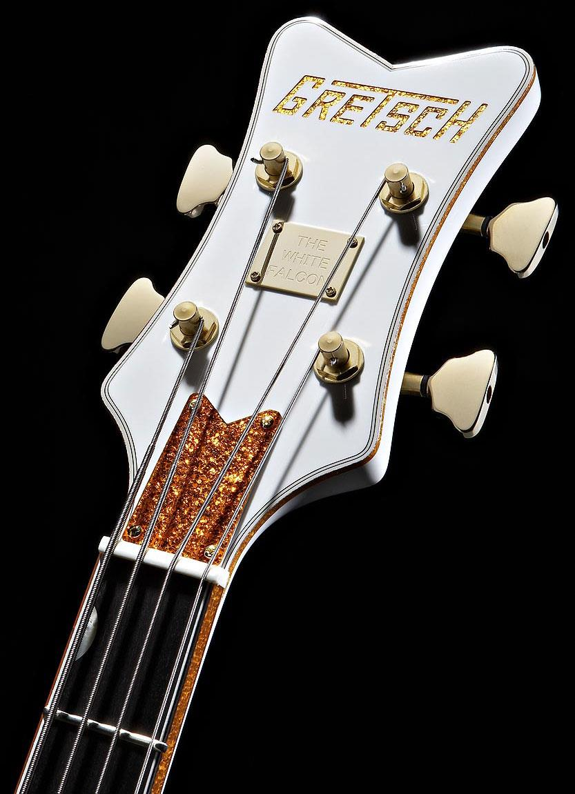 Gretsch G6136LSB White Falcon Bass 4 String Guitar