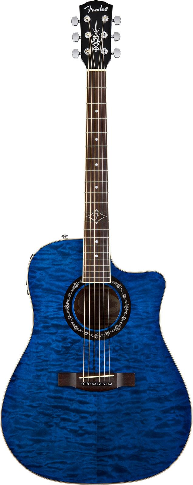 fender t bucket 300ce quilted maple trans blue keymusic. Black Bedroom Furniture Sets. Home Design Ideas