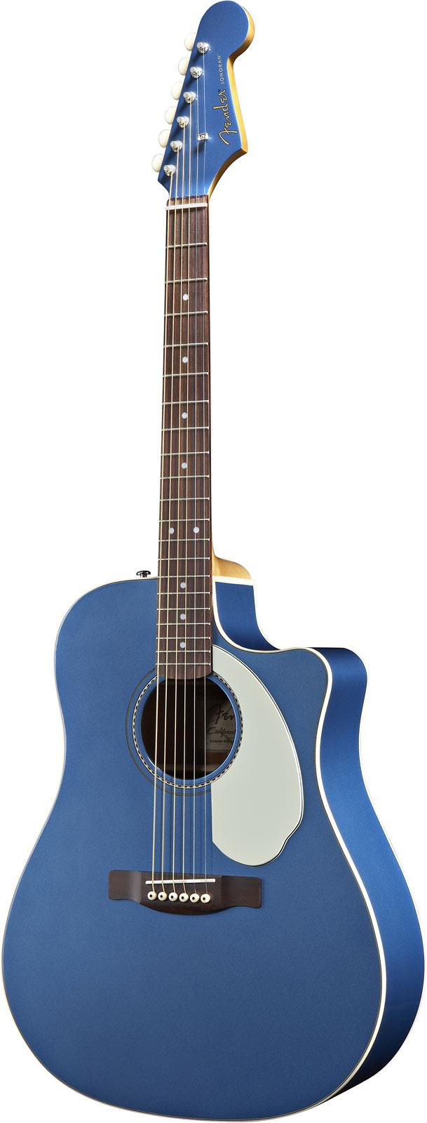 Fender Sonoran SCE Lake Placid Blue Acoustic Electric Cutaway Dreadnought Guitar