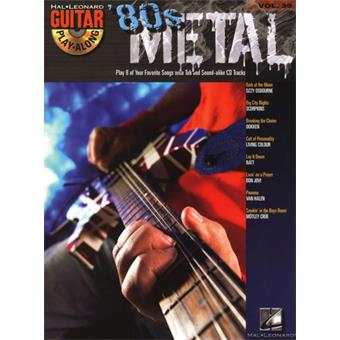 Hal Leonard Guitar Play Along Volume 39 80s Metal tablature guitare électrique