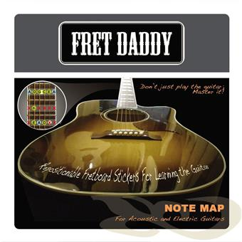 Fret Daddy Note Map Acoustic Electric outil de formation guitare