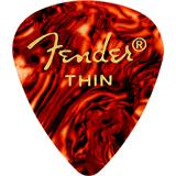 Fender 351 Classic Celluloid Picks Thin Shell 12 Pack