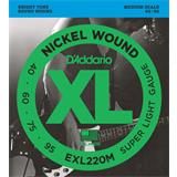 D'Addario EXL220M Super Light 40-95