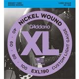 D'Addario EXL190 Custom Light 40-100