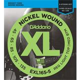 D'Addario EXL165-5 Reg Light Top Medium Bottom 5-String 45-135